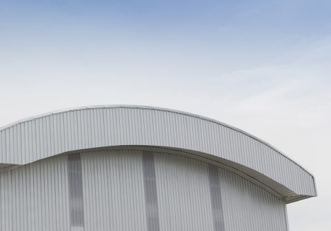 Alderon application on factory - aplikasi alderon pada atap pabrik