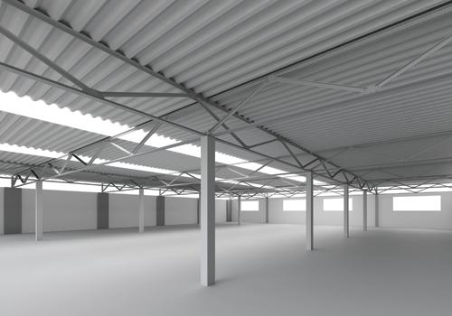 Alderon application on warehouse - aplikasi alderon pada atap gudang