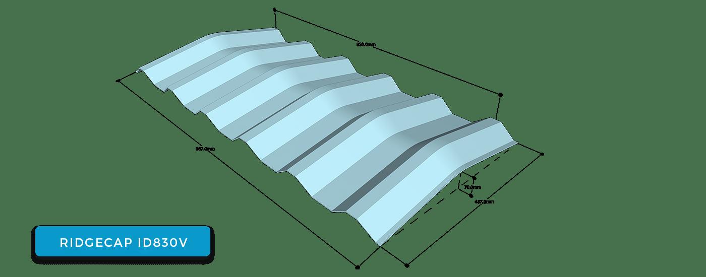 Alderon ridgecap ID 830 V - wuwungan ID 830 V