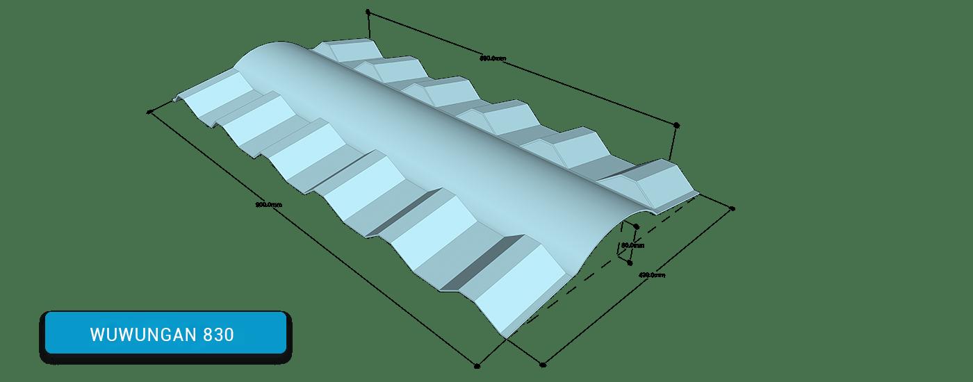 Alderon ridgecap 830 - wuwungan 830