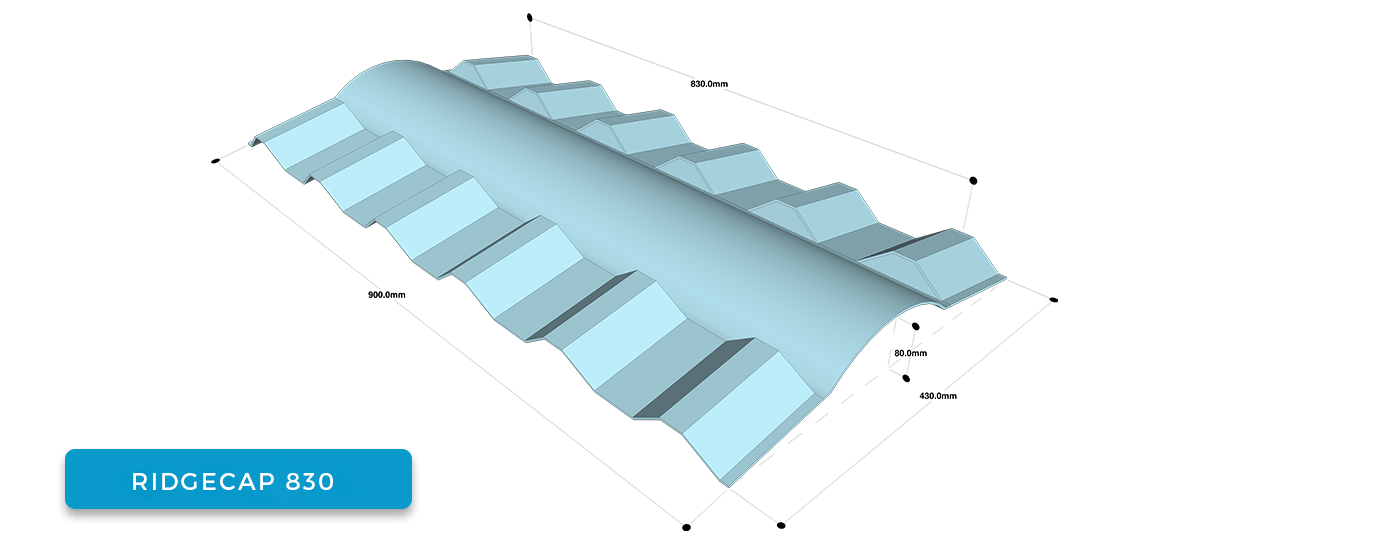 Alderon Twinwall Accessories - Ridgecap 830