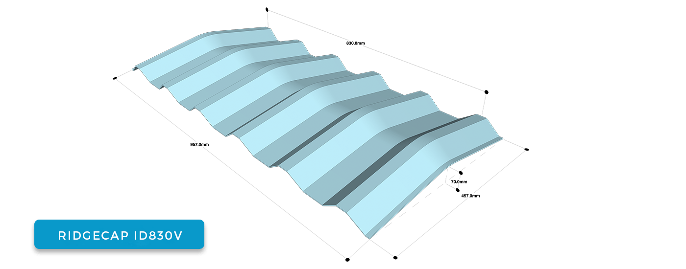 Alderon Twinwall Accessories - Ridgecap ID 830 V