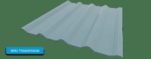 Alderon warna biru transparan