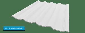Alderon warna putih translucent