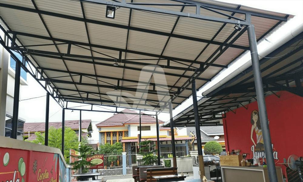 Alderon RS Proyek Aplikasi Residensial Atap Kanopi Outdoor