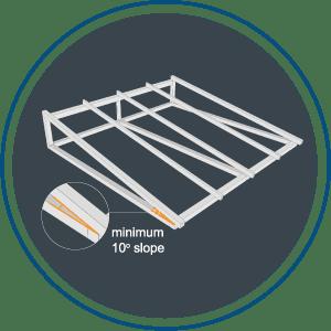 Instalasi Alderon RS - Step 1 - Sudut kemiringan minimum 10 derajat