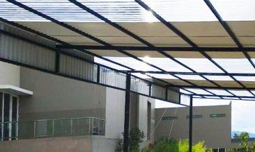 Aplikasi Alderon RS Atap Rumah Teras