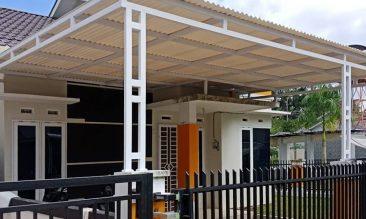 Model Atap Kanopi untuk Carport Rumah - Alderon RS rangka besi hollow