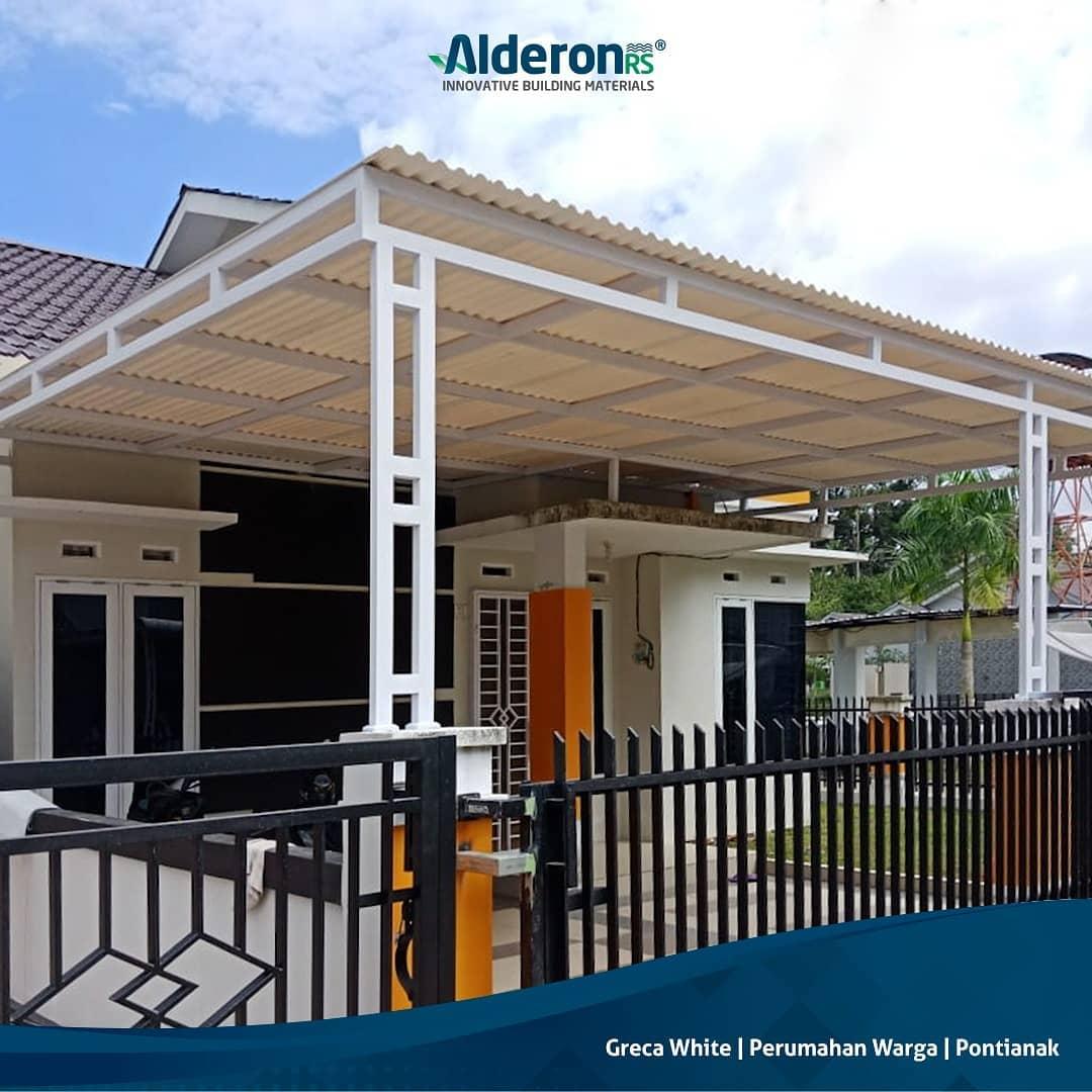 Model Atap Kanopi untuk Carport Rumah Minimalis - Alderon RS rangka besi hollow