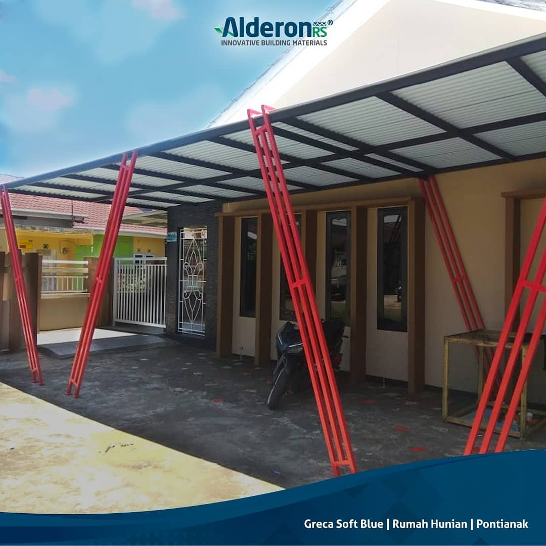 Model Atap Kanopi untuk Carport Rumah Minimalis - Alderon RS
