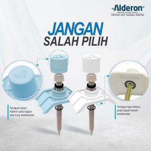 ciri sekrup baut alderon weather seal asli