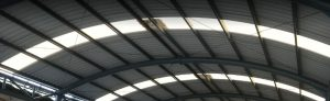 alderon atap lengkung transparan bening murah