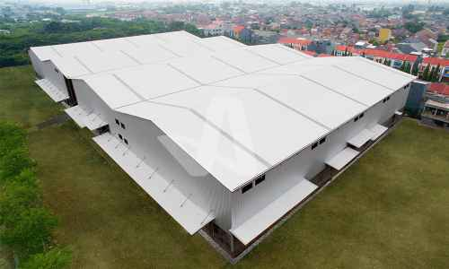 Alderon Proyek Aplikasi Atap Gudang Atap Anti Panas