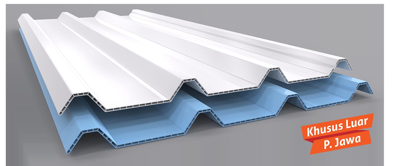 alderon lite atap upvc gelombang berongga yang ringan