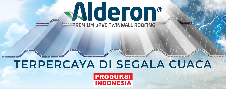 alderon twinwall atap upvc terpercaya di segala cuaca produksi indonesia