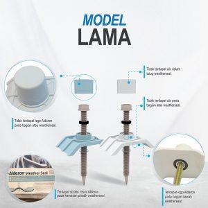 alderon weather seal sekrup model lama