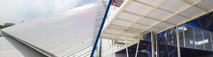 atap alderon sebagai atap rumah dan kanopi teras