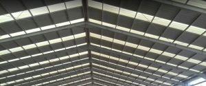 atap alderon transparan twinwall bening transparan skylight pabrik gudang