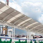 atap kanopi modern masa kini alderon twinwall semi transparan