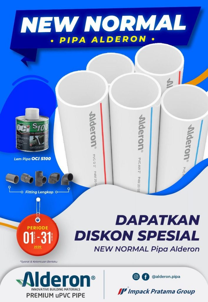 diskon spesial new normal pipa alderon