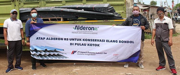 impack pratama alderon rs jaan donasi konservasi elang bondol di pulau kotok