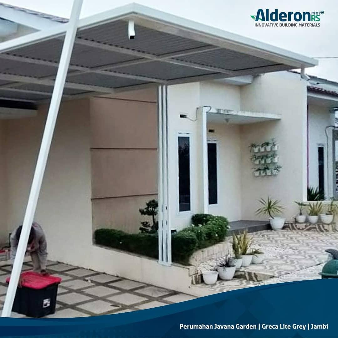 Model Kanopi Rumah Minimalis Alderon RS Greca Lite Grey