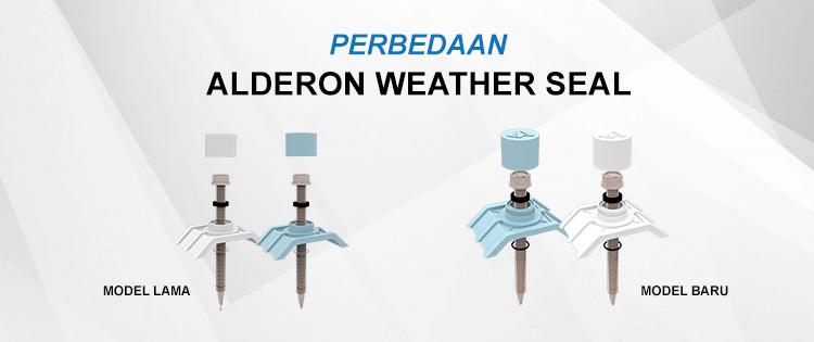 perbedaan alderon weather seal sekrup model lama dan baru