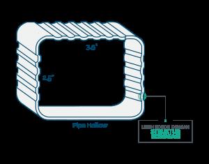 pipa hollow talang air upvc alderon